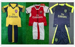 Wholesale Kids Kits Arsenal Top Thai Quality Home Away rd Soccer Jerseys Black Football Sets Suits Factory