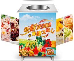 Wholesale Single flat pan fried ice cream machine for sale ice cream application fried ice cream machine modelCH F1 ice machineice machine