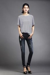 Wholesale Sexy Foot Wear - The old jeans wholesale counters with feet sexy denim trousers waist worn 2016 spot in autumn