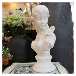 Wholesale Beauty Bust Sculpture Crafts Figure Arts Creative Statue Decoration Sculpture Crafts with Sandstone Marble Mmaterial for Hotel Decoration