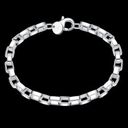 Wholesale Charm Bracelets for Women long checkered bracelets new listings high quality fashion jewelry Christmas gifts Sterling Silver Bracelet