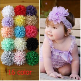 High Quality 3.94'' Chiffon Flowers Baby Girls Headdress Flowers Hair Accessories 16 Colors For Choose 120pcs lot freeshipping