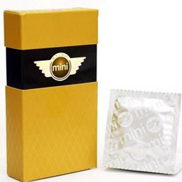 Wholesale Pleasure More Brand New Brand Mini Small Condoms For Men Ultra Thin Width mm Sex Products Condomes Sex Toys Preservativo