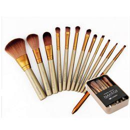 Wholesale 100pcs Makeup Tools Brushes Nude piece Professional Brush sets Iron box gift