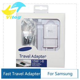 Wholesale 2016 high quality V A V A Adaptive Fast Charging Travel Wall Charger m usb cable For Samsung Galaxy S6 S7 Edge Plus Note