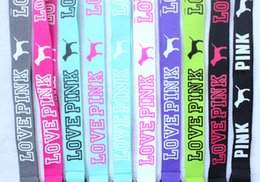 Wholesale Hot x VS Love Pink New Design Lanyard Neck Cell iPhone Key Strap DETACHABLE colors AVAILABLE
