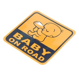 Wholesale Baby In Car Sticker Baby On Board Warning Reflective Car Styling Motorcycle Sticker