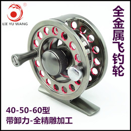 Wholesale CNC aluminum alloy With a vent force Ice Reels Raft wheel BB One way bearing Fly Reels Ultralight fishing vessel
