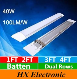 Wholesale 2016 New Surface Mounted LED Batten Double row Tubes Lights FT FT T8 Fixture Purificati LED tri proof Light Tube W W AC V