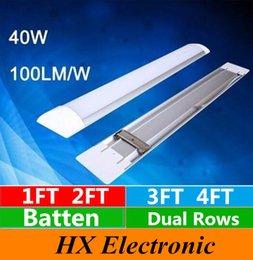 Wholesale 2016 New Surface Mounted LED Batten Double row Tubes Lights FT FT T8 Fixture Purificati LED tri proof Light Tube W W AC V