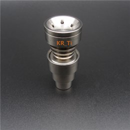 2016 hot sell Highly quality Domeless Titanium Nail 3 parts Adjustable Male& Female 14 & 18 & 19 mm GR2 4in1 with six hole