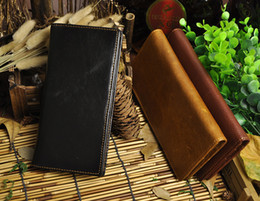 Man Wallet Genuine Leather Oil Waxed Leather Male Wallet Simple Design Business Casual Men Wallet Credit Card Cash Wallet