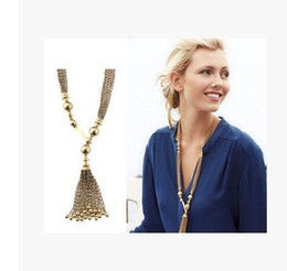 DIY pendant necklace 40cm alloy European street shooting star with a luxurious gold chain type Y alloy Bead Tassel sweater chain necklace