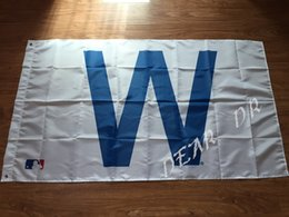 Wholesale Chicago Cubs Team W Flag MLB Banner x5FT CCW01 Polyester