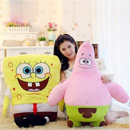 Wholesale Large spongebob plush toys sent great stars doll pillow doll doll birthday girl children