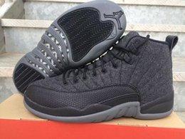 Wholesale Newest Air Jordan XII Wool Men Jordans Basketball Shoes Men s Sport Basketball Shoes Sneakers High Quality Retro s Size US