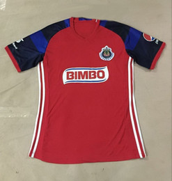 wholesale Thai Quality 16-17 Chivas Red soccer jersey,discount Cheap mens HOME away Athletic Outdoor shirt top football jerseys Wear tops