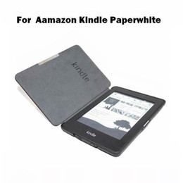 Wholesale Fashion PU Leather Book Style Smart Case for Amazon Kindle Paperwhite eReader Flip Cover