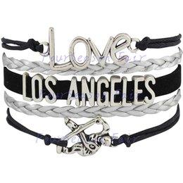 Custom-Infinity Love National Hockey League Los Angeles Kings Bracelet Ice Hockey Player Fans Adjustable Bracelet Bangles-Drop Shipping