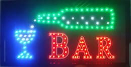 2017 bar business La vente chaude a mené le signe ouvert d'ouverture de magasin de barre la basse consommation 10x19 pouces semi-extà © rieure ultra courante marchà © de barre courante a menà © des signes d'affaires bar business ventes