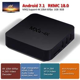 mxq 4k Rockchip android 7.1 tv box 1GB 8GB RK3229 Quad Core 4K Video Decoder HDMI2.0 KD18.0 fully loaded