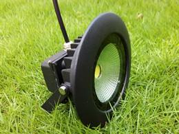Round 10W COB LED Floodlights IP65 AC 85-265V Outdoor Landscape Wall Wash Lamp Black 10Watt Flood Lights Warm white Cool white Lighting CE