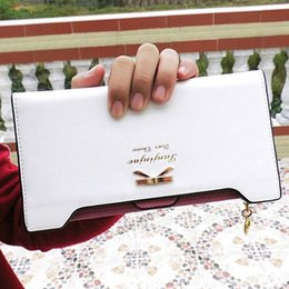 Wholesale Fashion Brand Women Wallets Lovely Lady Purse Butterfly Tags Long Zip Wallet PU Thin Card Holders Best Gift LB