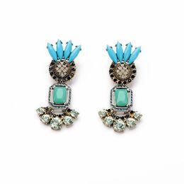 Wholesale Fine art Fan Er restoring ancient ways drop earring women earring Amercia Style Jewelry for Party