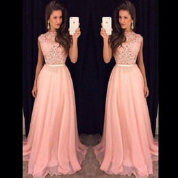Graceful Light Pink Long Prom Gowns With Appliques Draped Chiffon Women Formal Dresses Evening Wear Custom Made Cheap Party Gown