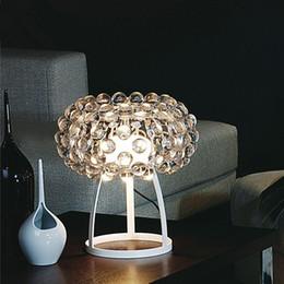 Promotion tableau acrylique clair Foscarini Caboche boule Lampes de table LED Light Chandelier par Patricia Urquiola + Eliana Gerotto, Effacer Trasparent Balle Acrylique Night Light
