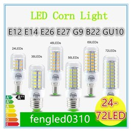 Wholesale SMD5730 E27 GU10 B22 E12 E14 G9 LED bulbs W W W W W V V angle LED Bulb Led Corn light