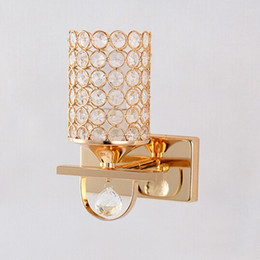 Golden k9 crystal wall lamp led restaurants balcony porch corridor of the head of a bed wall lamp