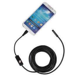 Wholesale Led Endoscope - 7mm 3.5m Endoscope Borescope USB Android Inspection Camera HD 6 LED 7mm Lens 720P Waterproof Car Endoscopio Tube mini Camera