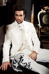 Wholesale-Casual summer champagne linen suit Lapel beach wedding dress and groom cut two suit men slimming suit.