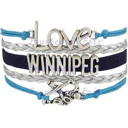 Custom-Infinity Love National Hockey League Winnipeg Jets Team Bracelet Ice Hockey Player Fans Adjustable Bracelet Bangles-Drop Shipping