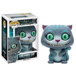 Wholesale Original FUNKO POP Games Alice in Wonderland Queen of Hearts Cheshire Cat Alice Vinyl Doll figure Car Decoration freeshipping