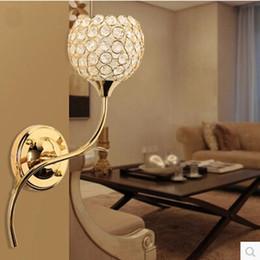 Luxury K9 Crystal Wall Lamp Modern Lights 3W LED Crystal Wall Lamp Wall Sconce Fashion Bedside Wall Lamp