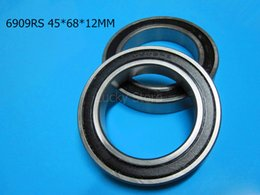 6909RS bearing free shipping 6909 6909RS 45*68*12 mm chrome steel deep groove bearing Rubber sealed Thin wall bearing