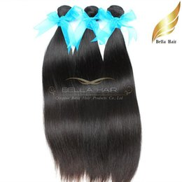 Indian Straight Hair Extensions Virgin Human Hair Weaves Wholesale Unprocessed Can Be Dyed Natural Color 3pcs lot Bellahair Free Shipping