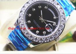 Cerámica blanca reloj de pulsera en venta-Fábrica de ventas Day-Date Presidente oro blanco W / para hombre de diamante más grande de cerámica Negro Dial Bisel los 41MM hombres mecánicos del reloj del reloj
