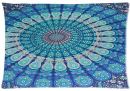Wholesale Hippie Mandala Tapestry Hippie Tapestries Style Funny Two sided Pillow Cover Rectangle Throw Pillowcase Zippered Cover