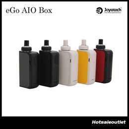 Wholesale Authentic Joyetech eGo AIO Box Start Kit with ml e Juice Capacity mAh Built in Battery All In ONE Style eGo AIO Box Kit Original