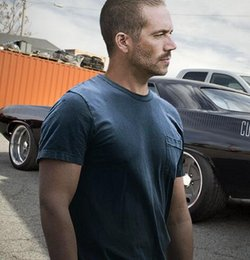 Fast Furious 7 Paul 2016 New Fashion Short Sleeve T-shirt Hot Sale Import China Summer For Man