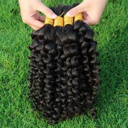 Wholesale 8A Monolian Kinky Curly Hair Bulk Bundles Bella Cheap Afo Kinky Curly Mongolian Human Hair Extensions In Bulk For Braids No Weft