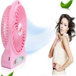 Mini Protable Fan F95B Multifunctional USB Rechargerable Kids Table Fan LED Light 18650 Battery Adjustable 3 Speed Multi Color 1pcs lot