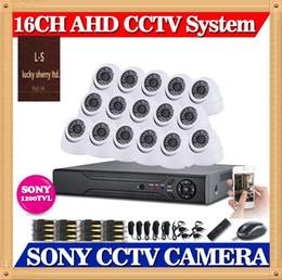 2017 dôme intérieur caméras ip CIA-16ch système CCTV DVR complet AHDM 720p avec SONY 1200TVL IR dôme d'intérieur blanc Caméras 16channel NVR ONVIF 2.2 pour caméra ip budget dôme intérieur caméras ip