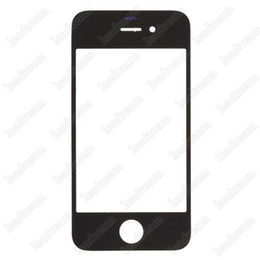 50PCS Digitizer Front Outer Touch Screen Glass Replacement for iPhone 4 4s Black White free shipping