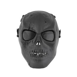 Proteger a paintball en Línea-Venta al por mayor Cráneo Esqueleto Ejército Airsoft Paintball BB Arma Juego de Cara Completa Proteger Máscara Búsqueda caliente