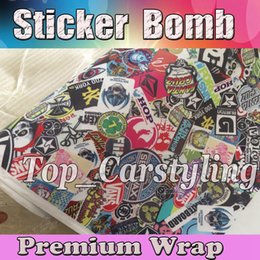Wholesale 1 x30m roll JDM USDM Graffiti Stickerbomb Vinyl Sticker Bomb Vinyl Foile Car Wraps Self Adhesive Vinil Sticker With Air Release For SUV Bo
