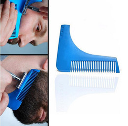 New Beard Shaper Facial Hair Shaping Tool peine Gentleman Beard Trim Bigote plantilla Corte de pelo moldeado Beard Shaping Comb